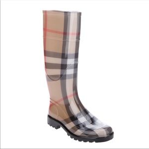 """Authentic Burberry """"House Check"""" rain boots"""